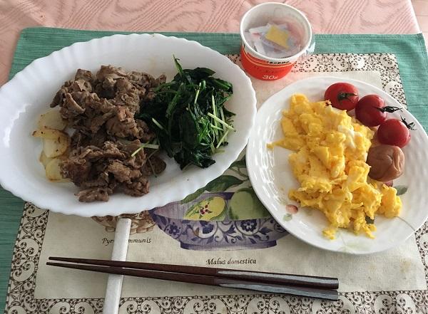 ライザップ中の朝食