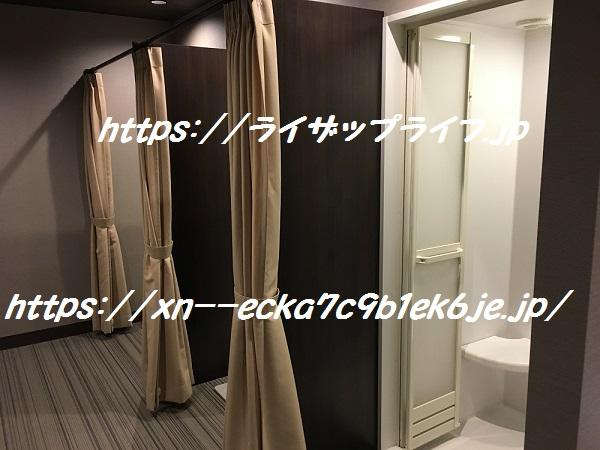 ライザップ上野店のシャワー