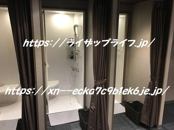 ライザップ北千住店のシャワールーム