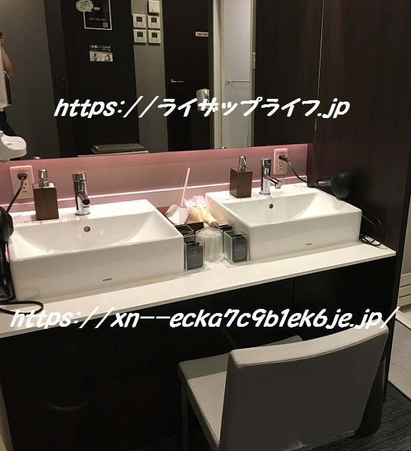 ライザップ恵比寿店の洗面台