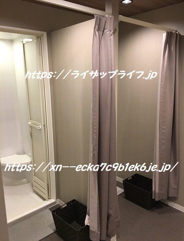 ライザップ松戸店のシャワールーム
