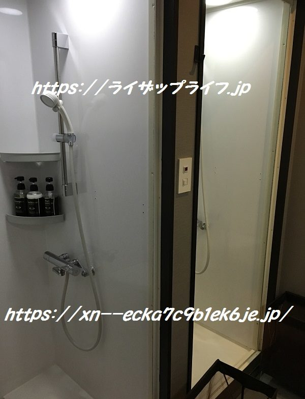 ライザップ銀座店のシャワー