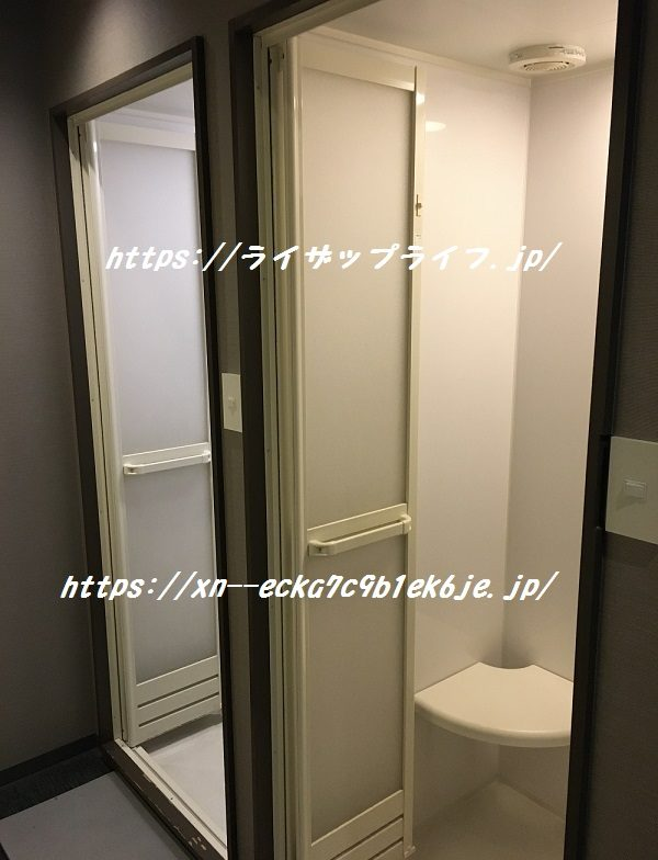 ライザップ心斎橋店のシャワールーム
